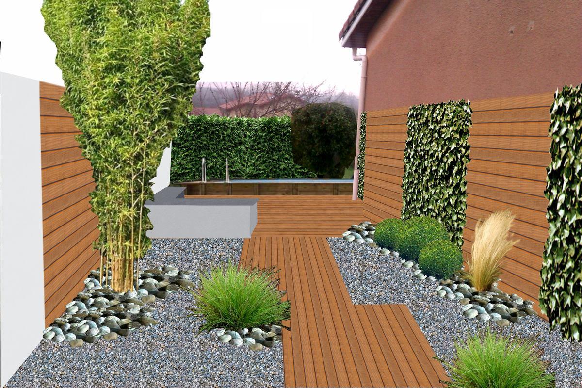 Genay 69730 projet de terrasse en dessin