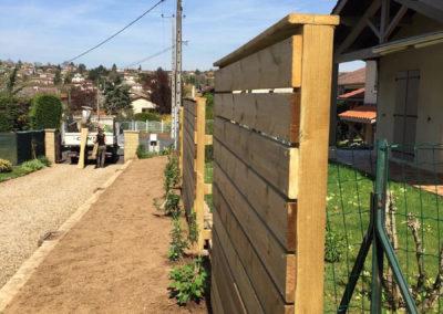 Frans 01480 clôture bois palissade