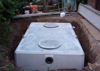 Arnas 69400 pose d'une cuve enterrée de récupération des eaux de pluie