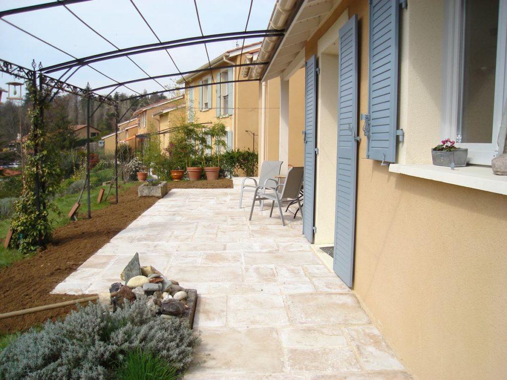 Neuville sur Saône 69250 dallage de terrasse