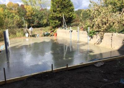 Belleville sur Saône 69220 dalle béton pour piscine hors sol