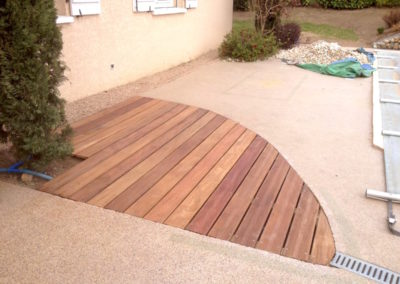 Extention de terrasse en bois Cumaru à Quincieux