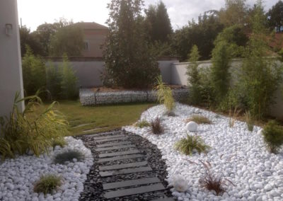 Réalisation d'un jardin zen minéral à Saint Didier de Formans 01600