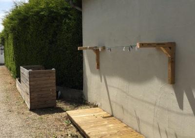 Terrasse en bois pour étandage