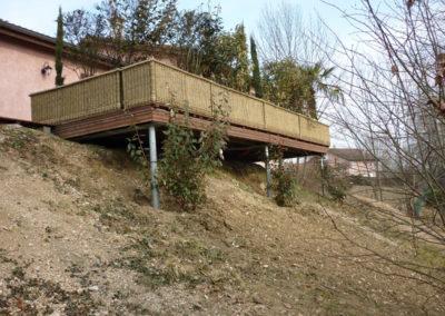 Réalisation d'une terrasse en bois à Priay 01160