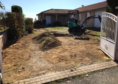 Terrassement réalisation d'un accès à Jassans Riottier