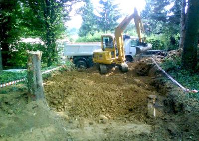 Terrassement réalisation d'un accès à Saint Didier au Mont d'or 69450